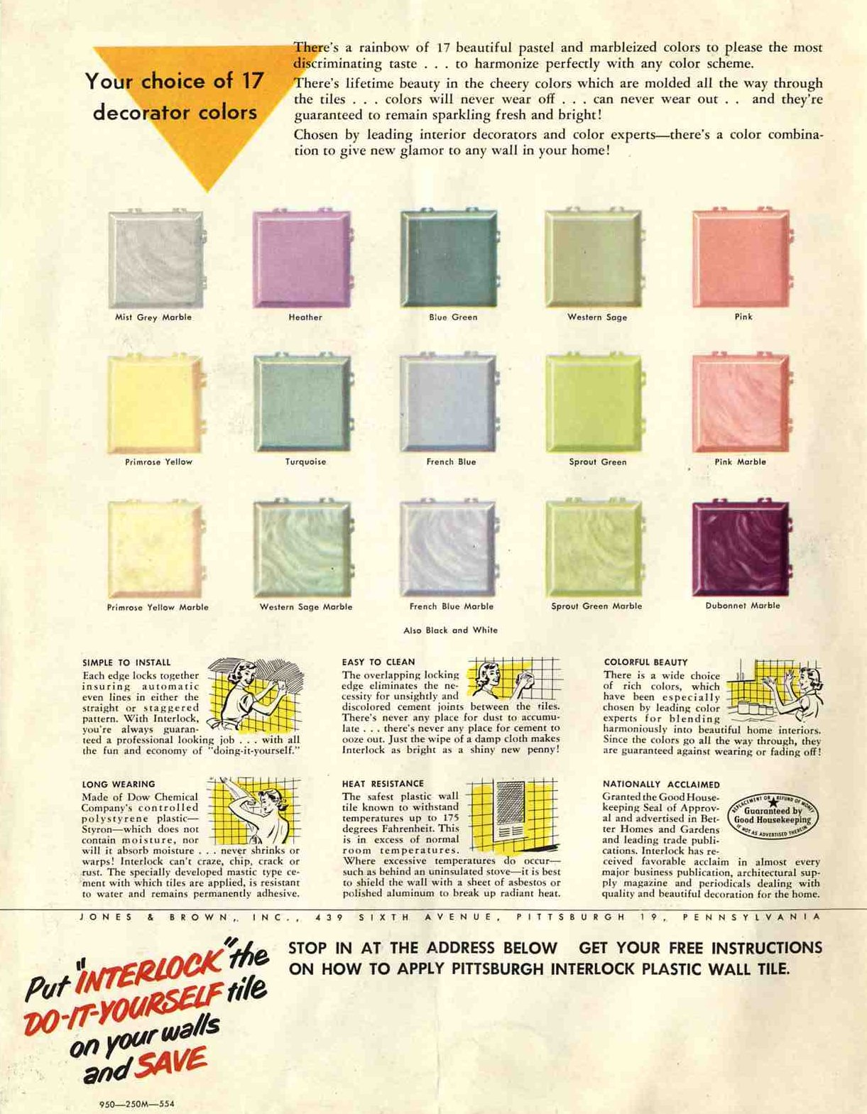 Plastic bathroom tile : 20 pages of images from 3 catalogs - Retro  title=