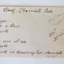 Black Chocolate Cake Recipe -- from 1924