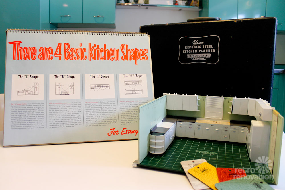 My vintage Republic Steel Kitchen cabinets salesman's at ...