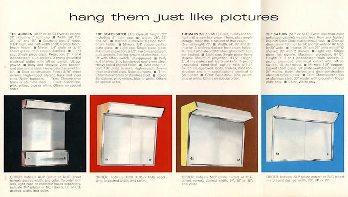Vintage vintage medicine cabinet satin glide