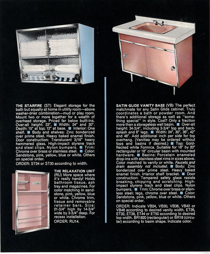 Vintage satin glide bathroom vanities vintage