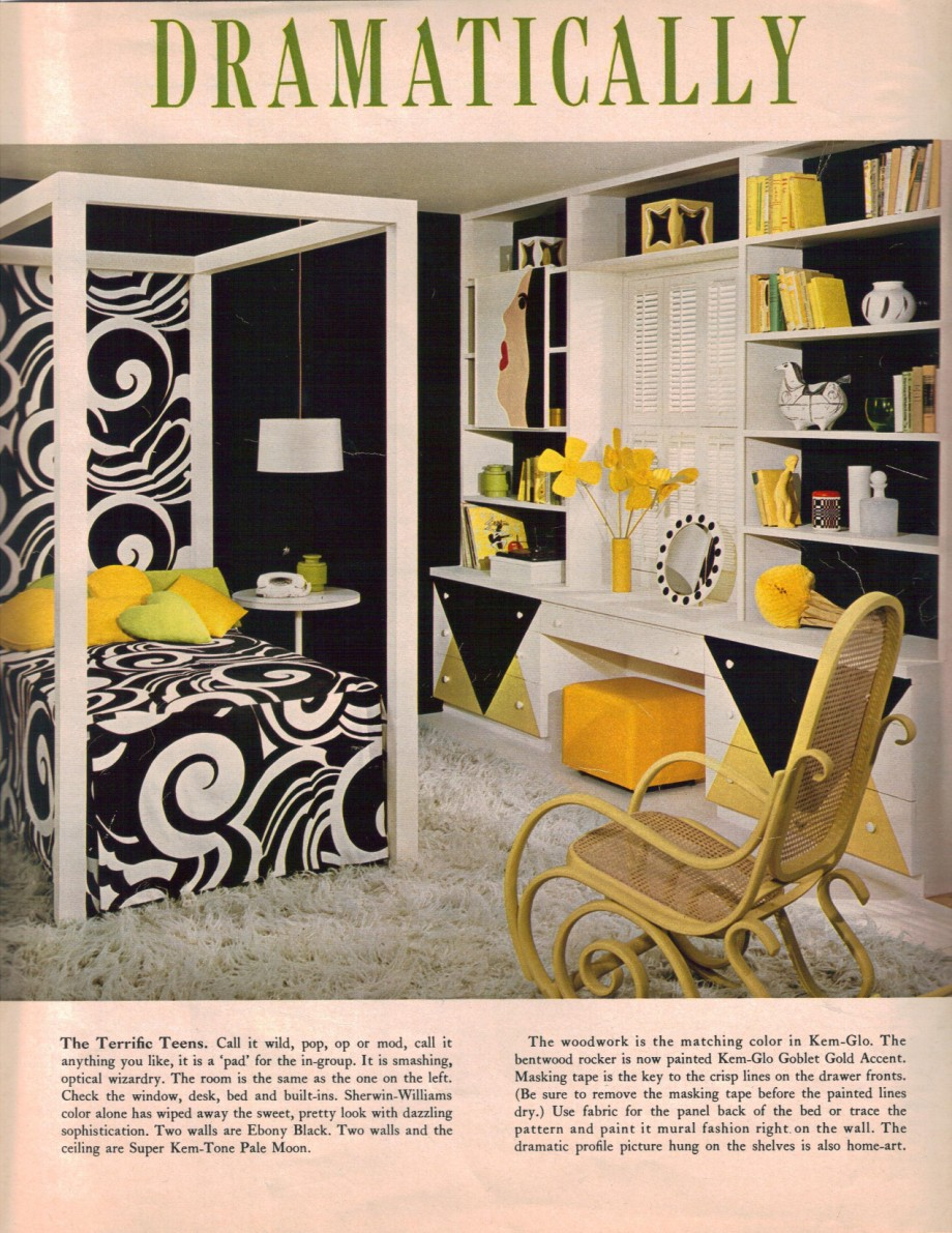 Black Yellow Bedroom Design