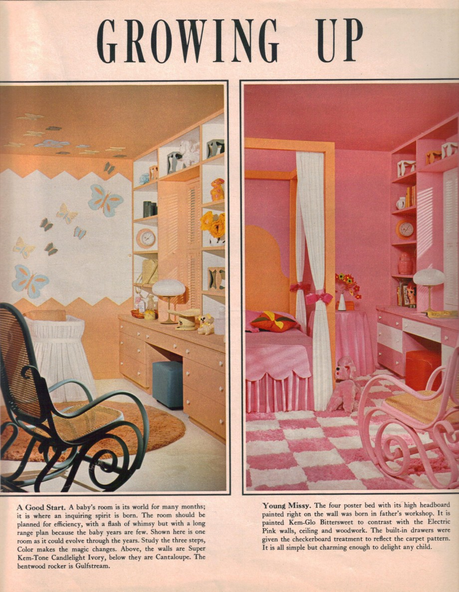 9 bedrooms living rooms and kids 39 spaces from 1967 for Retro 60s bedroom ideas