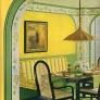 60s-yellow-green-breakfast-nook