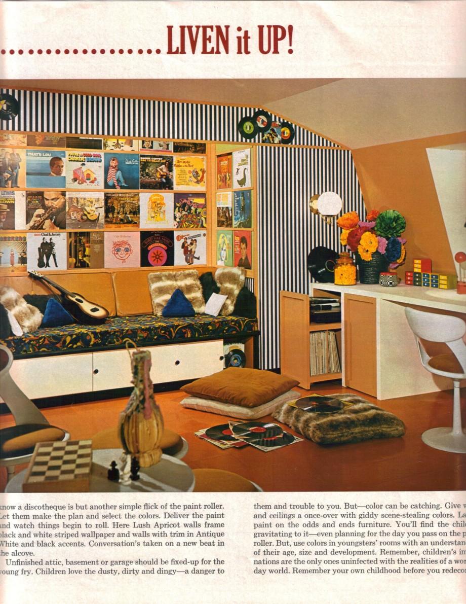 16 mod interior designs from 1968 retro renovation for Retro home accessories funky