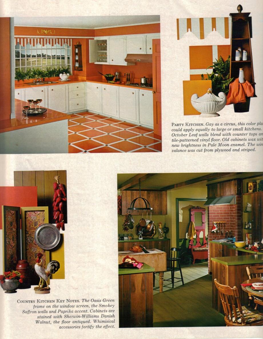 16 mod interior designs from 1968 retro renovation for Kitchen design 60s