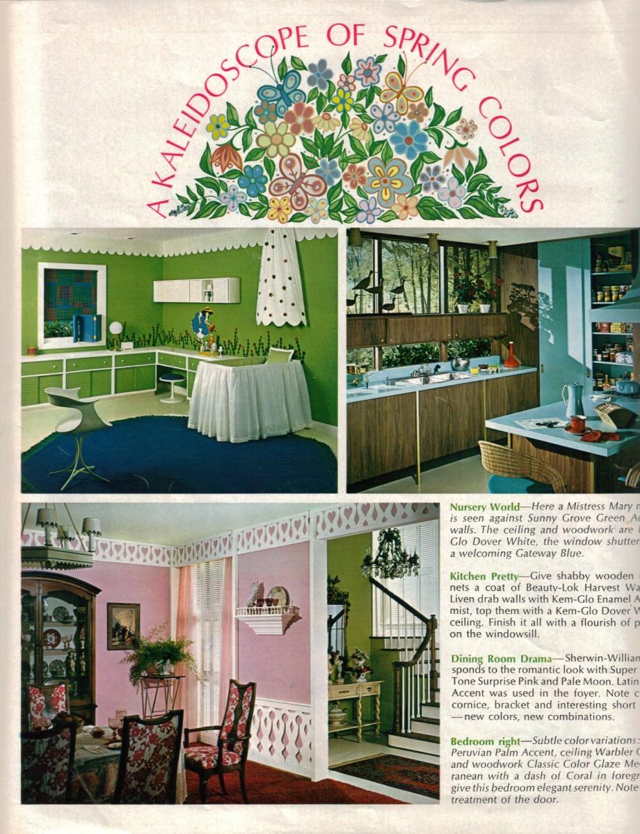 10 color schemes from 1968 retro renovation - Blue kitchen color schemes ...