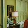 1960s-pretty-green-wood-bedroom