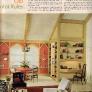 60s-color-combinations-yellow-bookshelf-orange-wall-red-carpet
