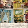 vintage-1960s-project-ideas-matching-wallpaper-and-fabric-radiator-cover-bathroom-storage-shlelf
