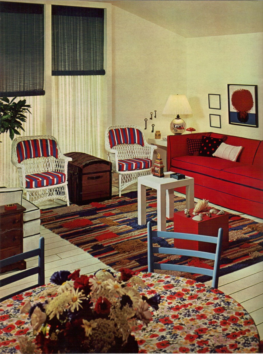 1960S Living Room 1960S Decorating Style  16 Pages Of Painting Ideas From 1969