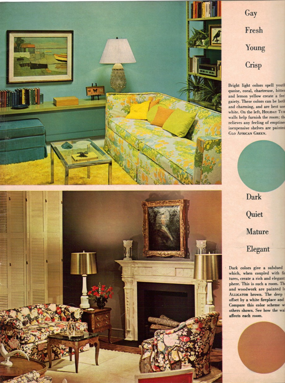 1960s decorating style 16 pages of painting ideas from for Home decor 50s