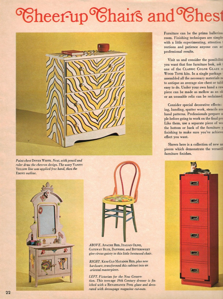 1960s decorating style - 16 pages of painting ideas from 1969 ...