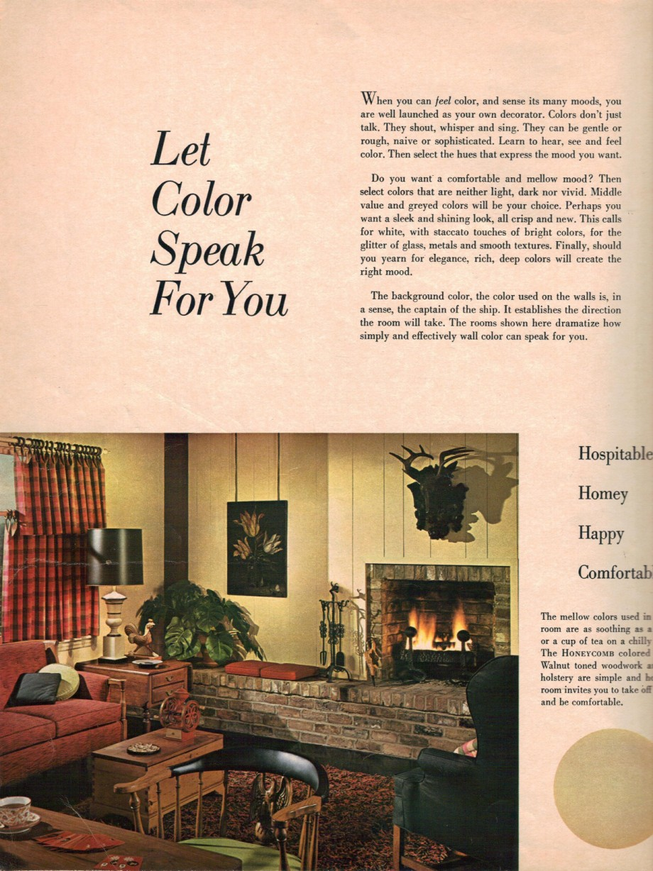 1960s decorating style - 16 pages of painting ideas from