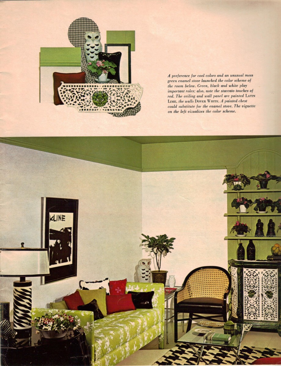 Modern 60s style decor for Living room 60 s
