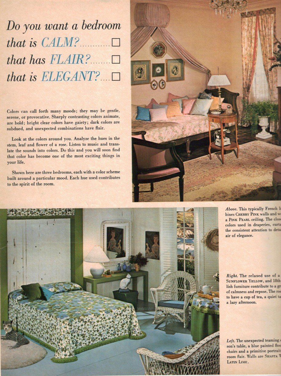 1960s Decorating Style 16 Pages Of Painting Ideas From 1969 Sherwin Williams