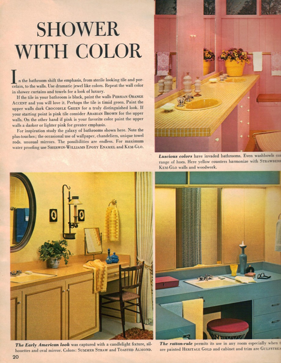 Hippie decor more 1960s interior design ideas 15 pages for 1960s bathroom design