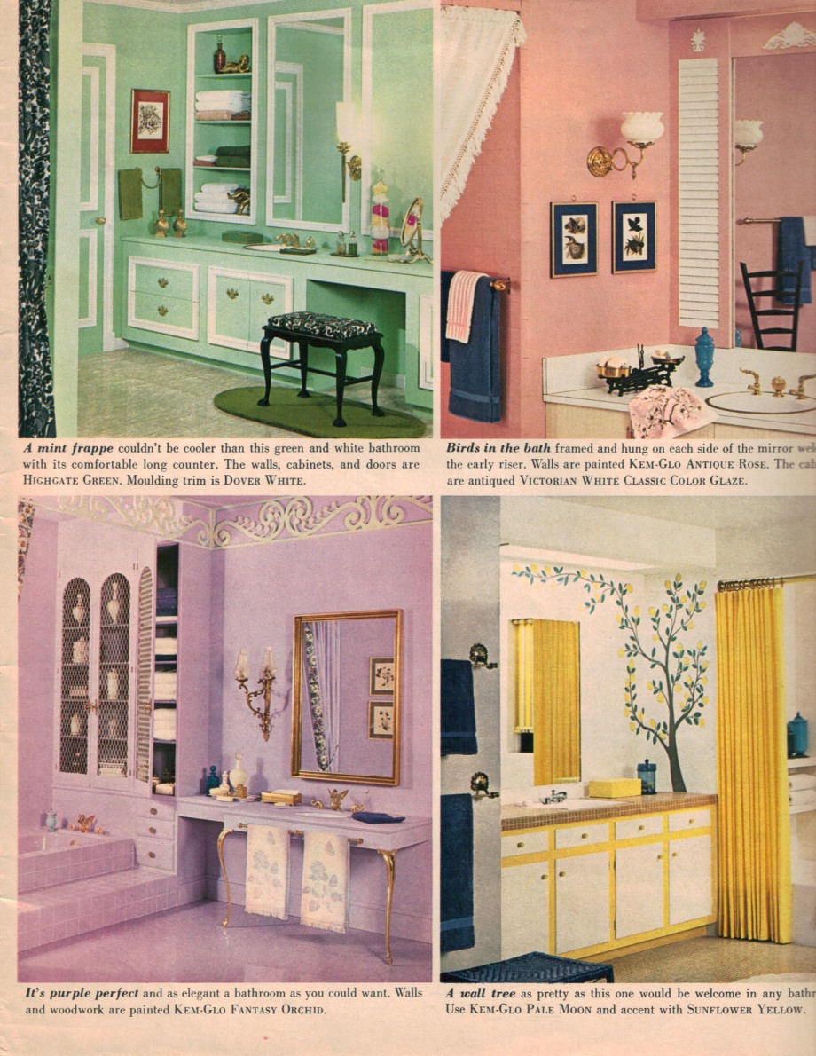 Hippie decor more 1960s interior design ideas 15 pages for Purple and yellow bathroom accessories