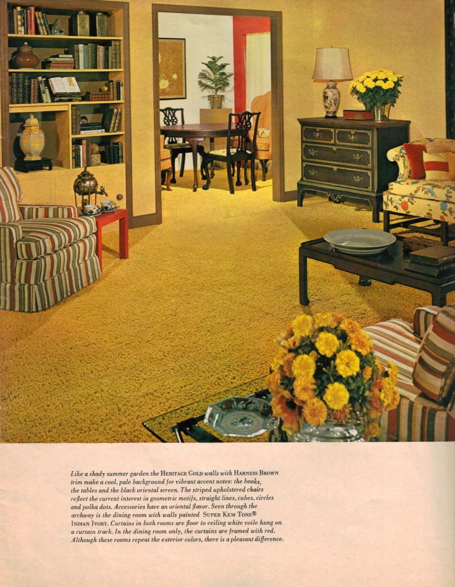 Hippie decor more 1960s interior design ideas 15 pages for Wall to wall carpet trends
