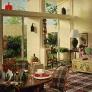 1969-colorful-living-room-plaid-rug-unique-accesories