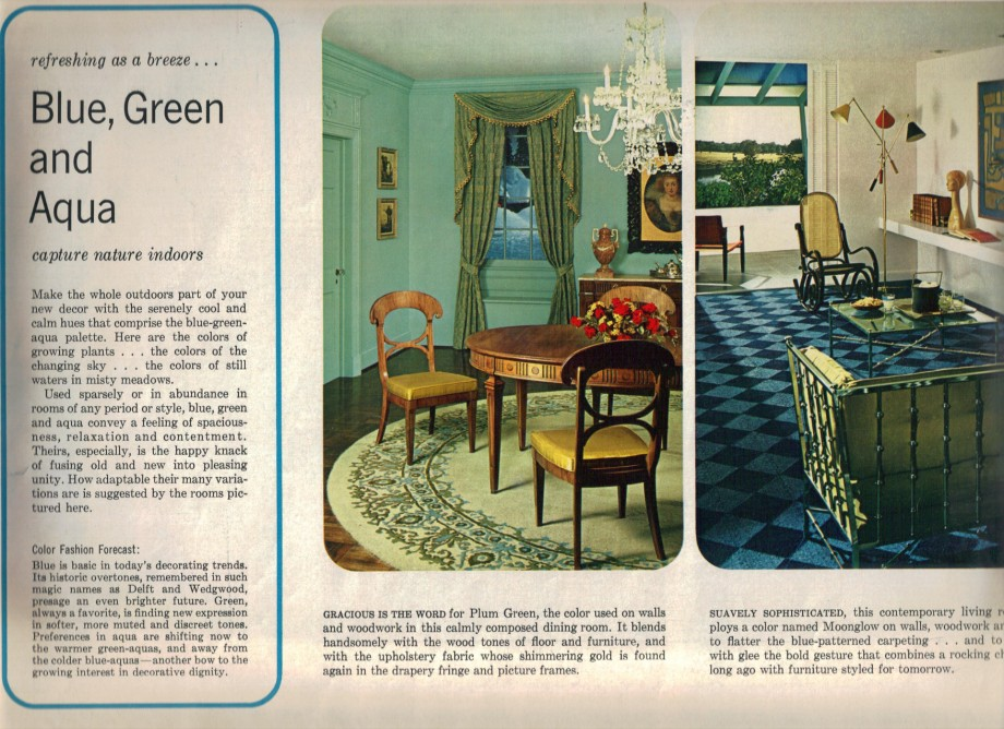 16 Rooms Showcasing Popular Colors From 1966 Retro