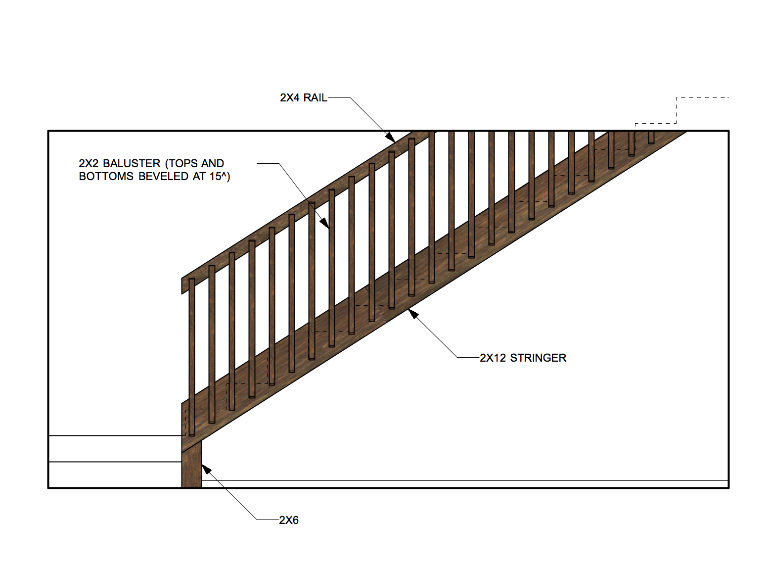 Diy stair rail ideas for heather 39 s retro basement remodel for Easy stairs diy