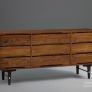 Stanley Furniture Vintage Slotted Triple Dresser