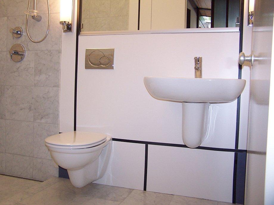 Steven Amp Michael Create The Mondrian Bathroom Originally