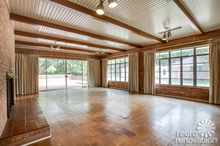 1954 texas time capsule house original cork floors Mid century modern flooring