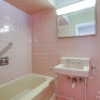 vintage-pink-bathroom-tiled