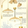 burlap textured mid century light fixtures