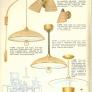 burlap textured mid century light fixtures