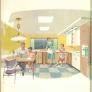 mid century retro kitchen
