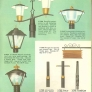 light poles mid century retro vintage