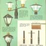 light poles mid century retro vintage