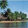 Cliché d'une plage sous les tropiques