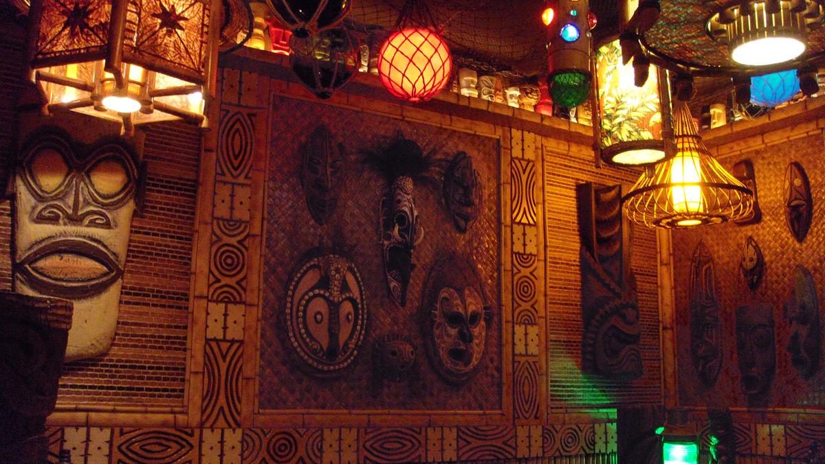 Tiki bar decor at home readers photos of their tiki style for Tiki room decor