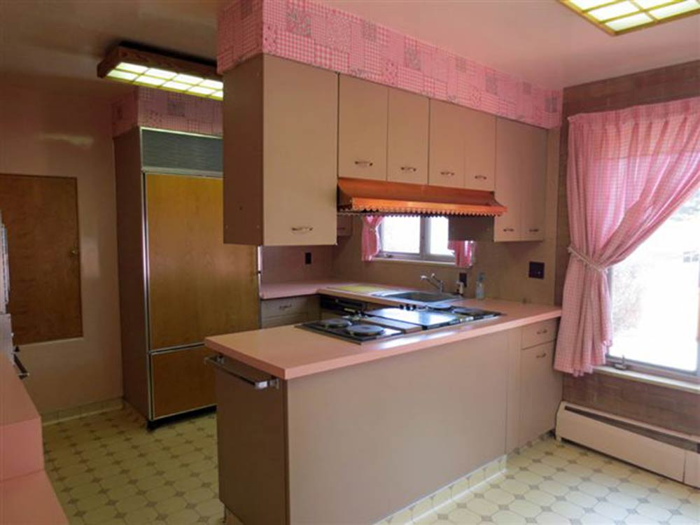 1960 interior design gem 27 photos laramie wy time for Pink and brown kitchen ideas