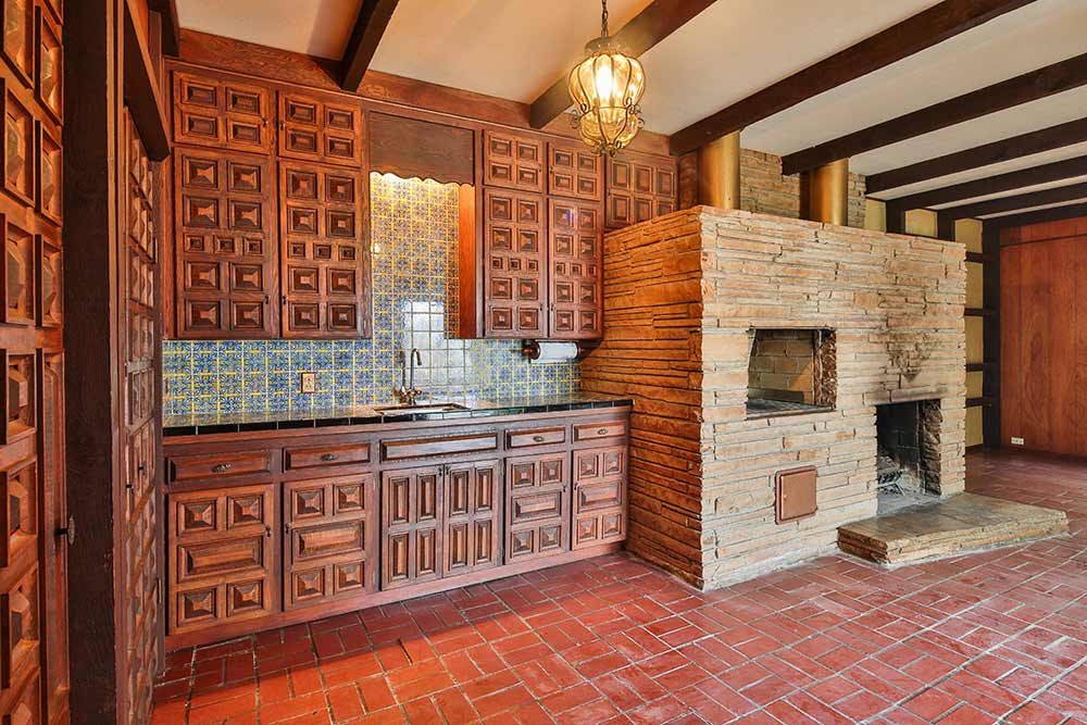Time capsule house with spectular 1970s mediterranean - Built in bar cabinets ...