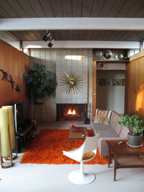 Troy rearranges his collections in his new eichler ranch for The family room troy ny