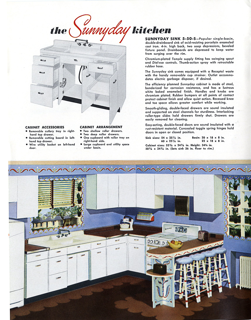 1953 Crane kitchen cabinets - 26 photos - complete catalog - Retro ...