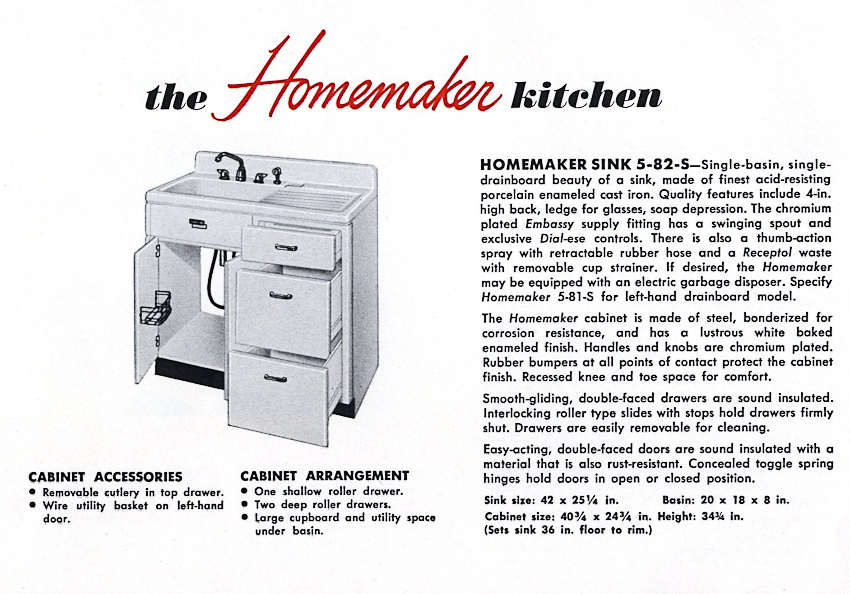 1953 Crane kitchen cabinets - 26 photos - complete catalog ...