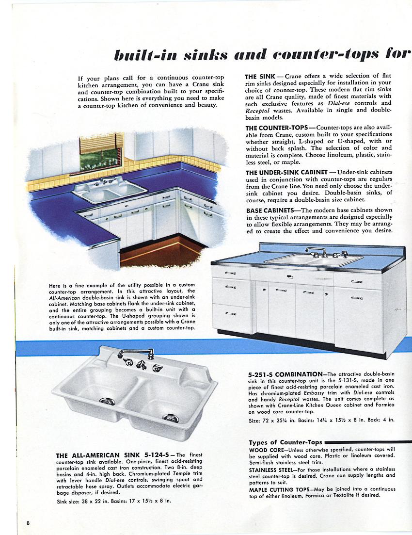 1953 Crane Kitchen Cabinets 26 Photos Complete Catalog