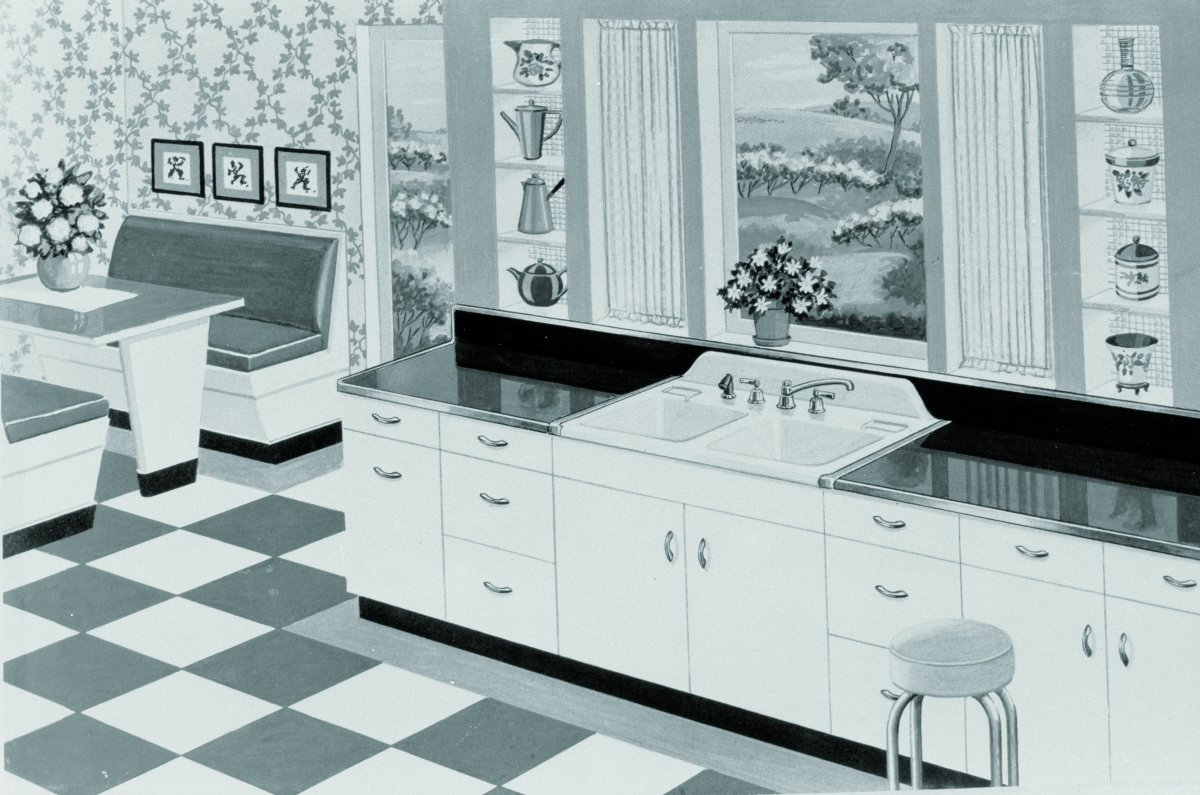 16 vintage kohler kitchens - and an important kitchen sink still