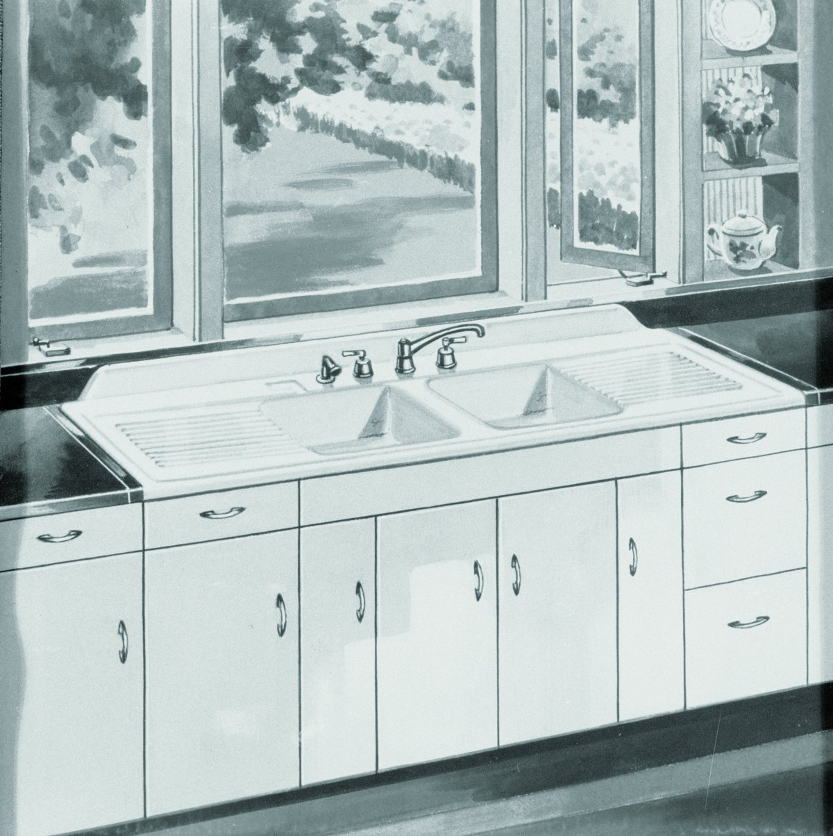 Vintage Farmhouse Kitchen Sink : of 16 vintage kohler kitchens that give you some idea of the designs i