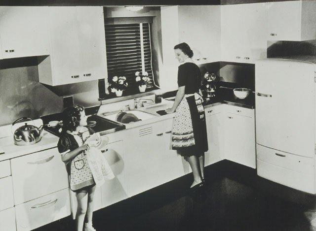 postwar kitchen from kohler 16 vintage kohler kitchens   and an important kitchen sinks still      rh   retrorenovation com