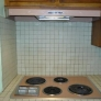 Our pink GE push-button stove and hood.  Original 1964.