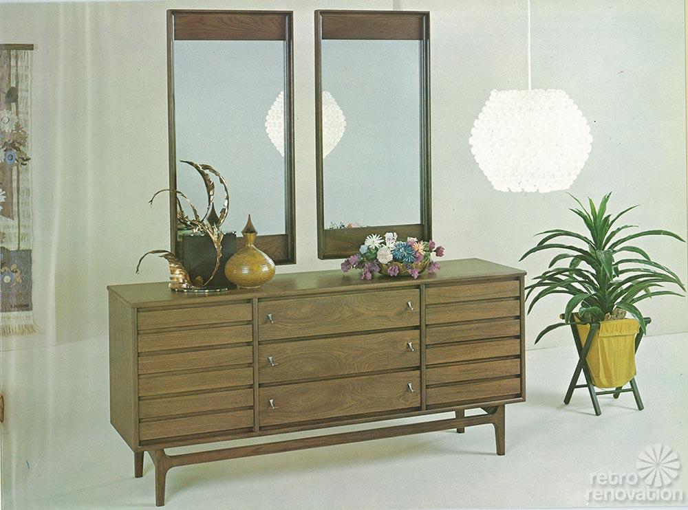 Vintage Stanley Furniture Triple Dresser