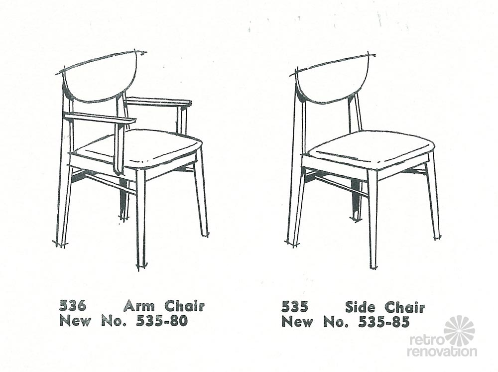Marvelous Vintage Stanley Dining Chairs Mix N Match