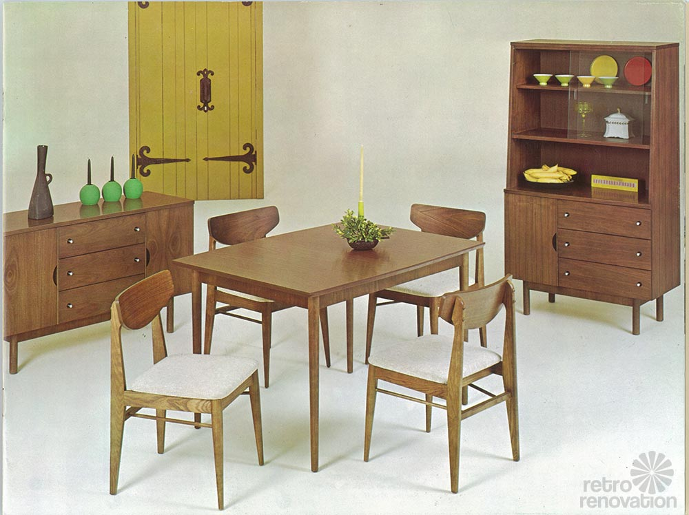 Vintage stanley furniture mix 39 n match line by h paul browning 11 page catalog retro renovation - Retro dining room chairs ...